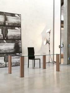 Immagine di dl101 montreal, tavolo piano in vetro