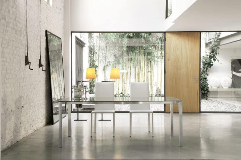 Dl50 new york tavolo da pranzo albergo idfdesign for Piani moderni in vetro