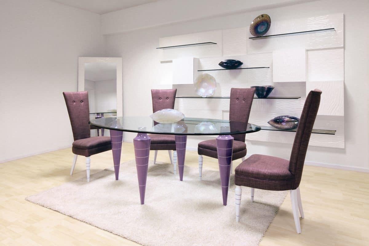 Tavolo ovale tavolo moderno per la sala da pranzo tavolo for Tavolo da pranzo ovale