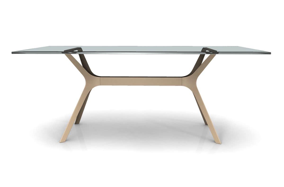 Tavolo Vetro Metallo Per Sale Da Pranzo Tavolo Piano In Vetro Per  #846947 1200 790 Base Per Tavolo Da Pranzo