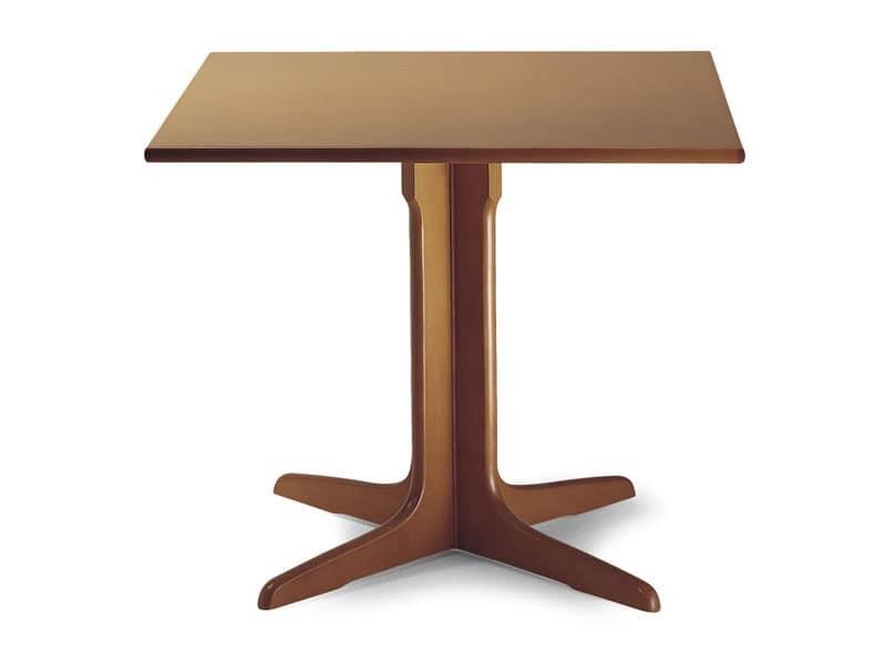 924, Tavolo in legno con colonna centrale