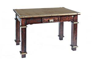 Art. 484RPS, Tavolo country, in legno ed acciaio corten