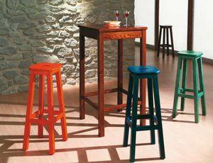 Bar-A, Tavolo alto in pino, per pub rustici