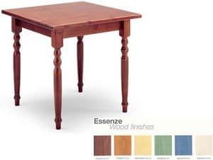 T/080G, Tavolo quadrato in arte povera, in legno, per enoteche