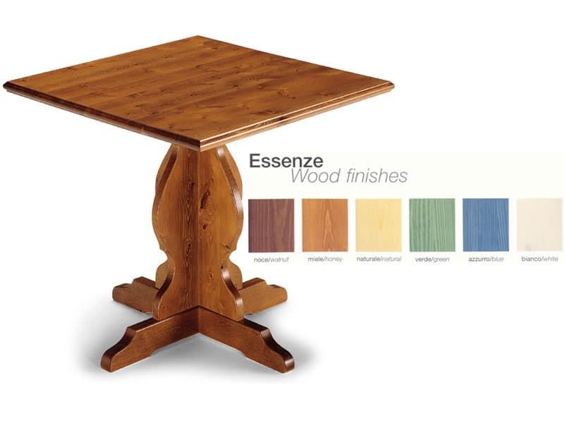 Tavolo in arte povera in legno massello per cucina for Tavolo rustico legno