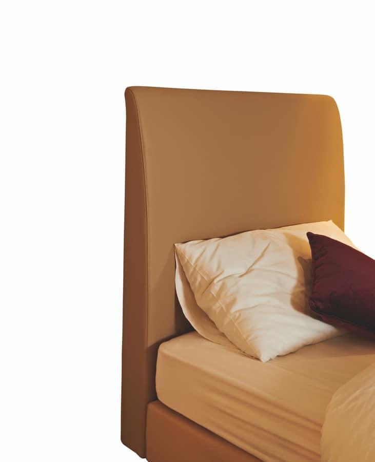 Testiera imbottita per letto singolo, per hotel | IDFdesign