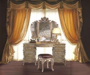 3605 TOILETTE BAROCCO, Toilette intagliata a mano per camere da letto classiche