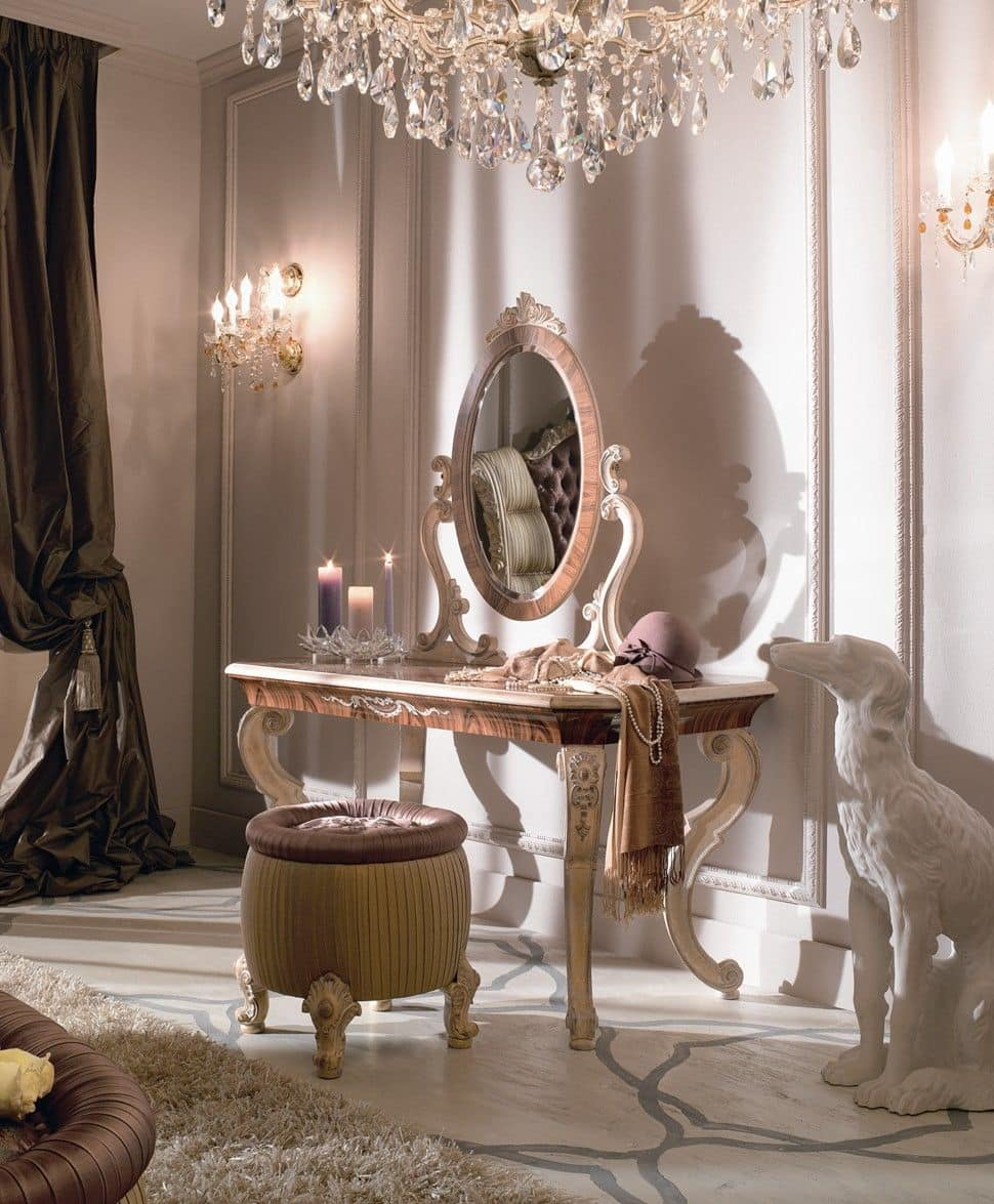Toilette classica di lusso per camere da letto idfdesign - Toilette moderne camera da letto ...