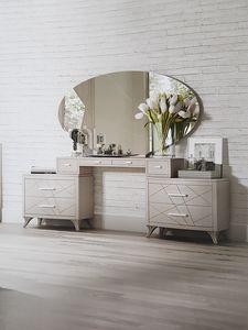 Aligio, Mobile toilette con cassetti e specchio ovale