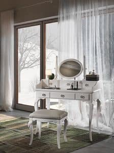 Art. AX721 + Art. AX722, Toilette in stile classico provenzale, in legno pregiato