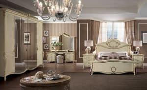 Tiziano pettiniera, Toilette classica di lusso, per camere da letto