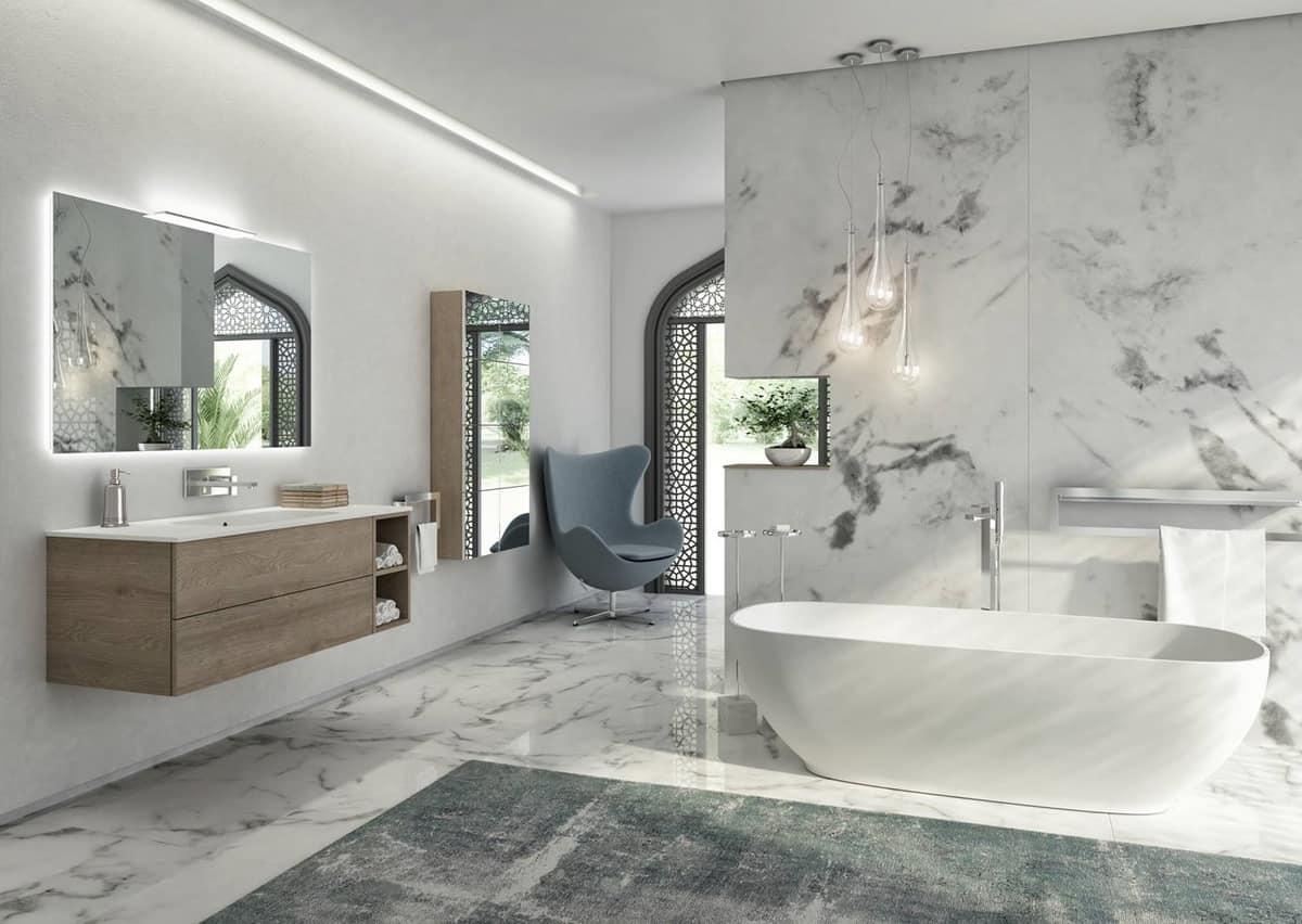 Vasca freestanding in tecnoril bianco idfdesign - Vasche da bagno torino ...