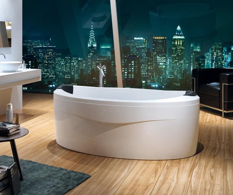 Vasca con poggiatesta cromoterapia riscaldatore idfdesign - Immagini vasche da bagno ...