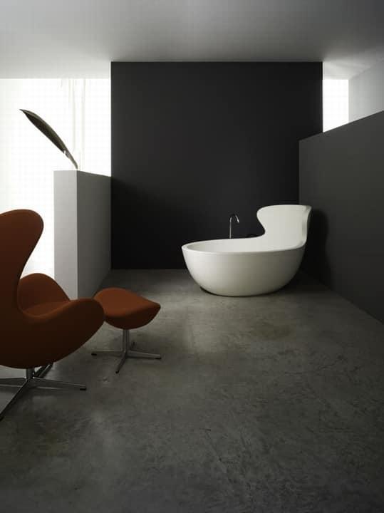 Vasca da bagno ergonomica in resina titanica idfdesign - Vasca da bagno in resina ...