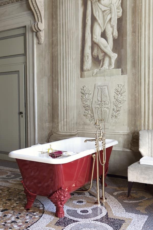 Vasca da bagno rettangolare in stile classico idfdesign - Vasche da bagno esterne ...