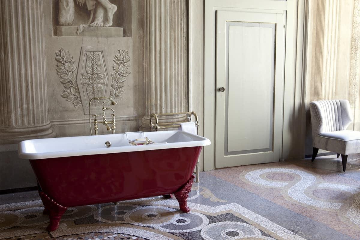 Vasca da bagno rettangolare in stile classico idfdesign - Vasca da bagno classica prezzi ...