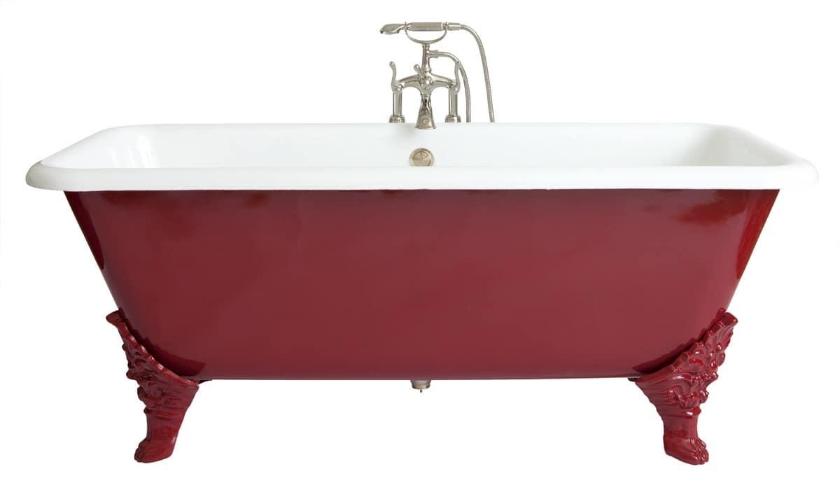 Verniciare Vasca Da Bagno Ghisa : Vasca da bagno rettangolare in stile classico idfdesign