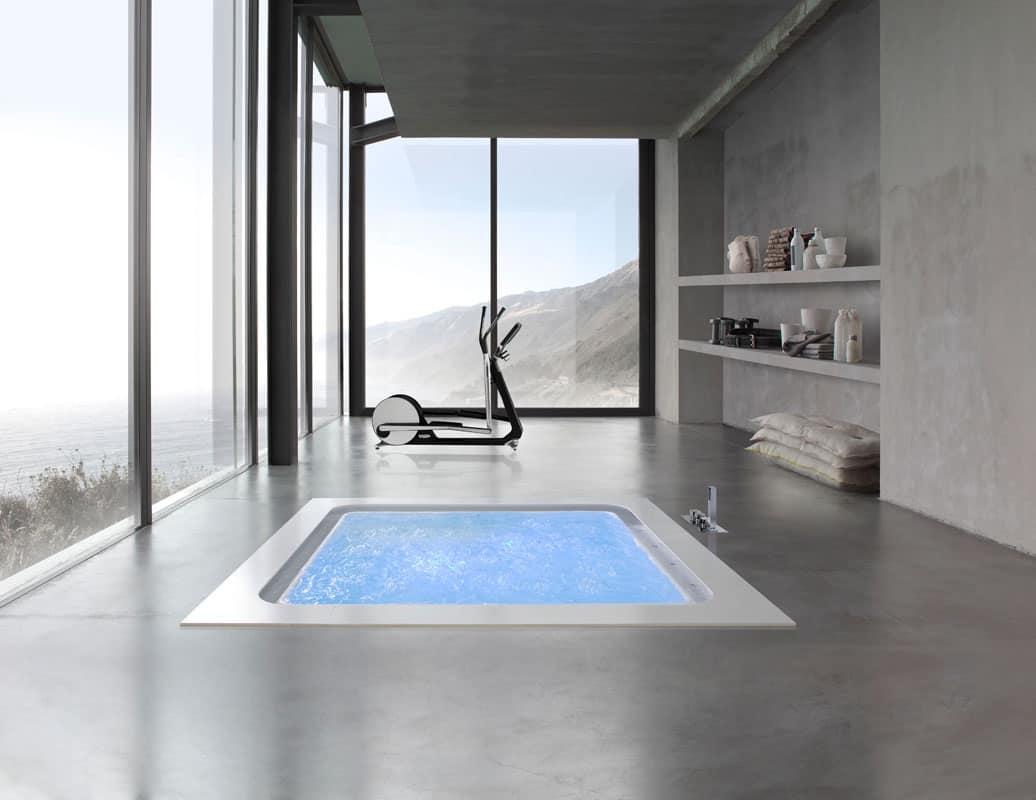 Vasca a sfioro con sensori di livello per spa idfdesign - Vasche da bagno rotonde ...