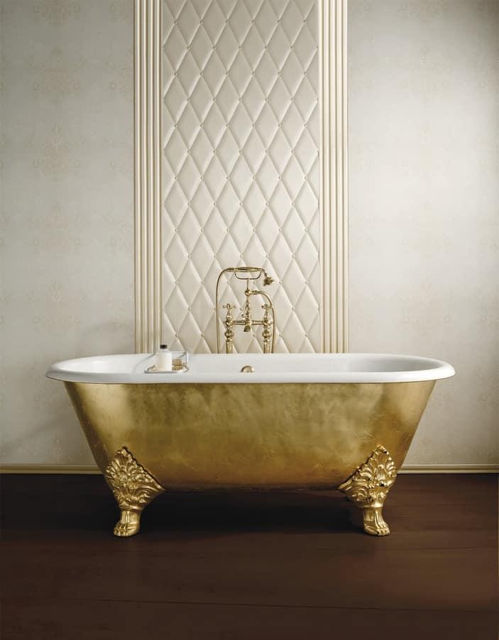 Vasca da bagno con piedi in ghisa stile classico idfdesign - Vasca da bagno in ghisa ...