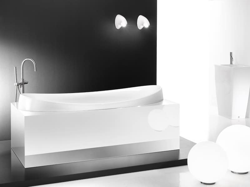 Vasca da bagno in ceramica idfdesign - Vasca da bagno ceramica ...