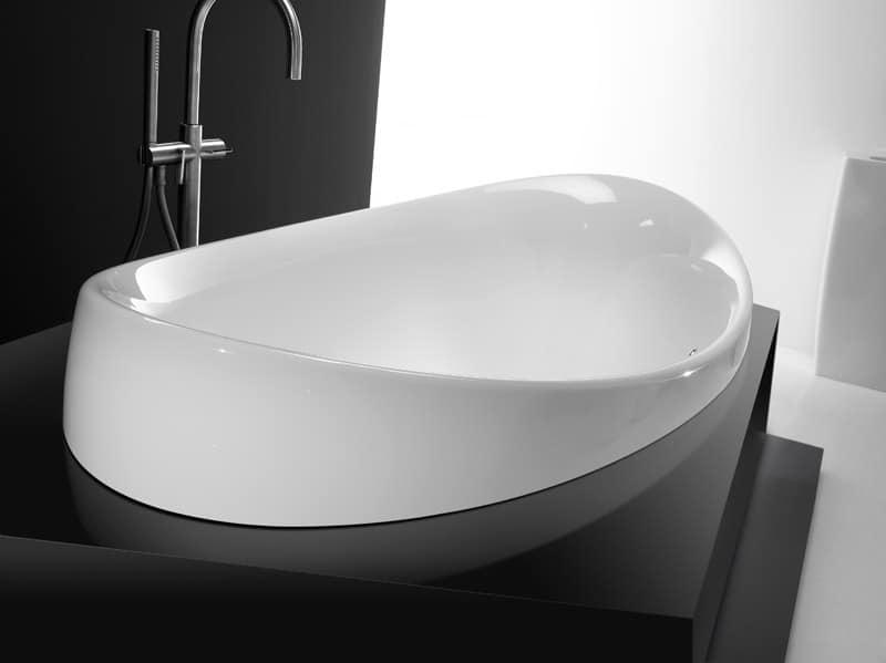 Vasca da bagno in ceramica idfdesign - Vasche da bagno in ceramica ...