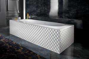 CLASS BATHTUB, Vasca da bagno con capitonn� in ceramica