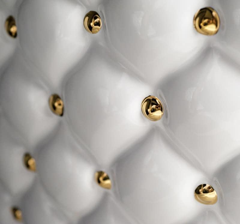 Vasca da bagno con capitonn in ceramica idfdesign - Vasche da bagno in ceramica ...