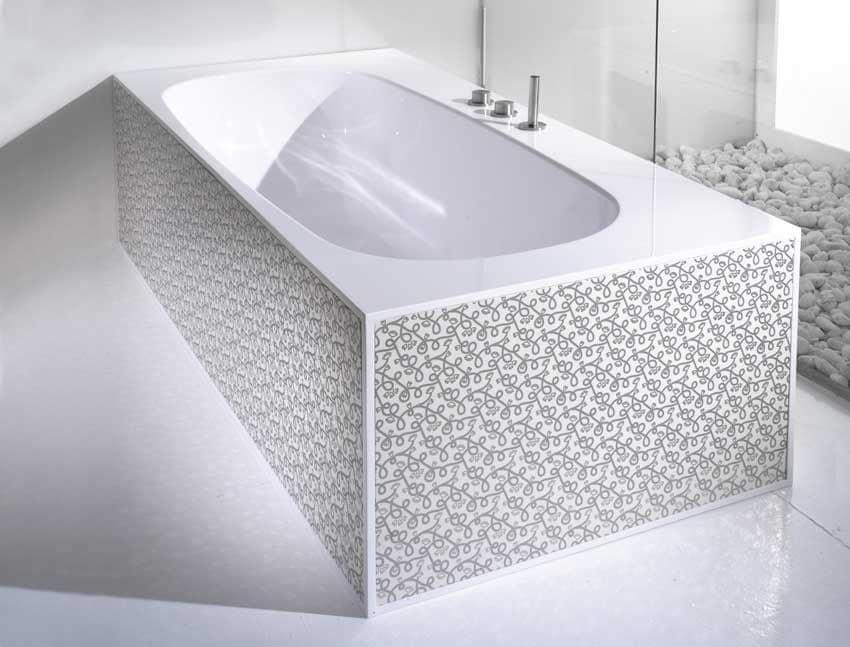 Vasca Da Bagno Wave : Vasca da bagno con piastre in ceramica decorate idfdesign