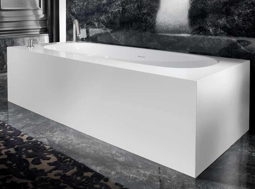 COVER OVAL BATHTUB, Vasca da bagno con piastre in ceramica decorate