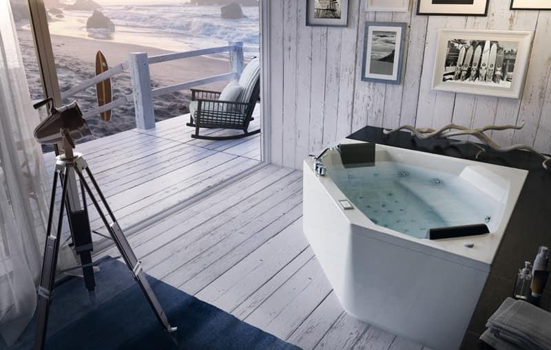 Vasche Da Bagno Angolari Glass : Vasca da bagno moderna con idromassaggio varie dimensioni idfdesign