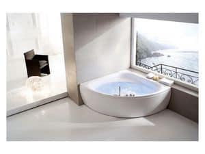 Bagno vasche con idromassaggio ad angolo angolari idfdesign for Vasca da bagno moderna