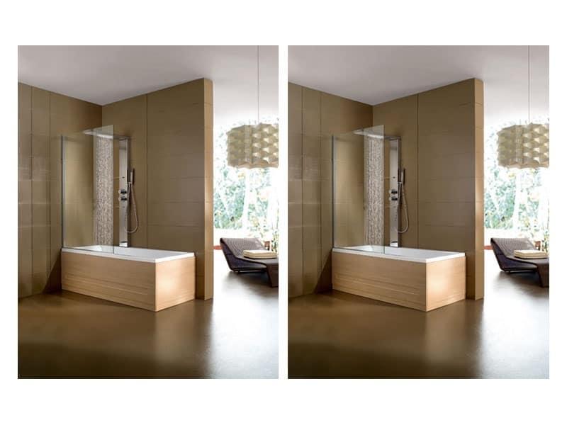 Vasca da bagno moderna varie finiture per area benessere - Vasche da bagno con box doccia incorporato ...