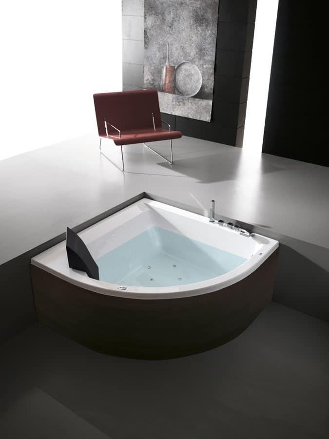 Vasca da bagno ad angolo varie versioni e optional for Vasche x laghetti