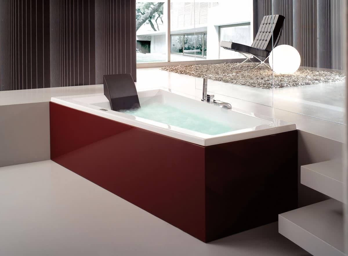 Vasca da bagno moderna vari programmi di idromassaggio idfdesign - Vasca da bagno moderna ...