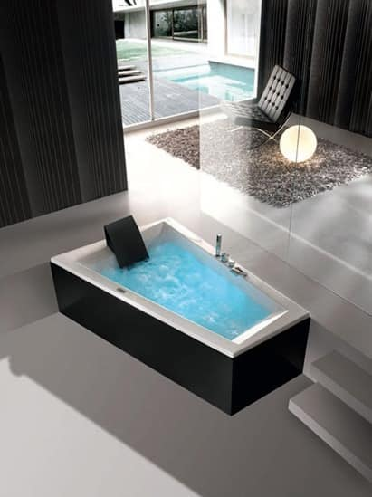 Vasca da bagno moderna, vari programmi di idromassaggio | IDFdesign