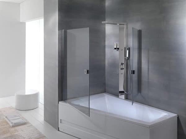 Casa moderna roma italy box doccia con vasca incorporata - Box per vasca da bagno ...