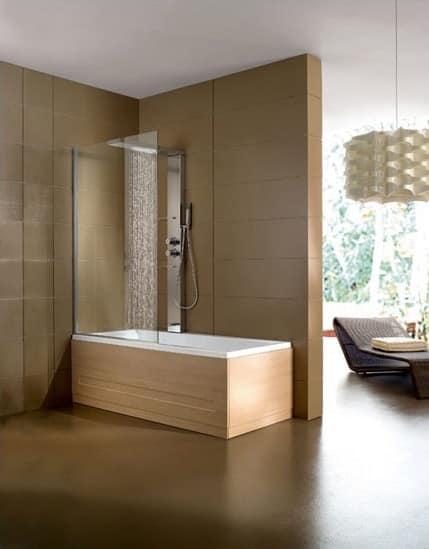 Vasca da bagno colonna in acciaio per area fitness - Box x vasca da bagno ...