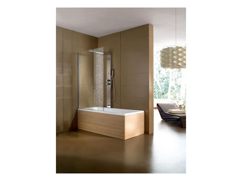 Vasca da bagno con box in cristallo per area relax idfdesign - Box vasca da bagno ...