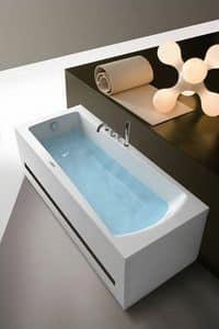 Eva, Vasca da bagno rettangolare, professionale, per spa