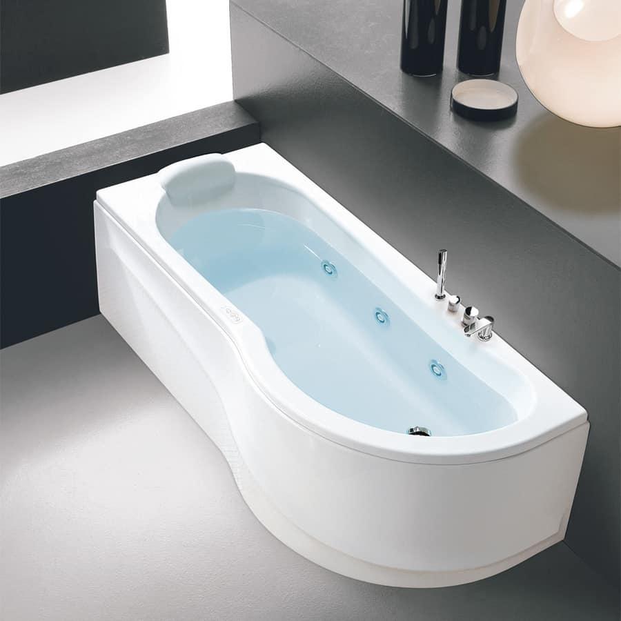 Vasca idromassaggio ad angolo con disinfezione idfdesign - Bagno con vasca ad angolo ...