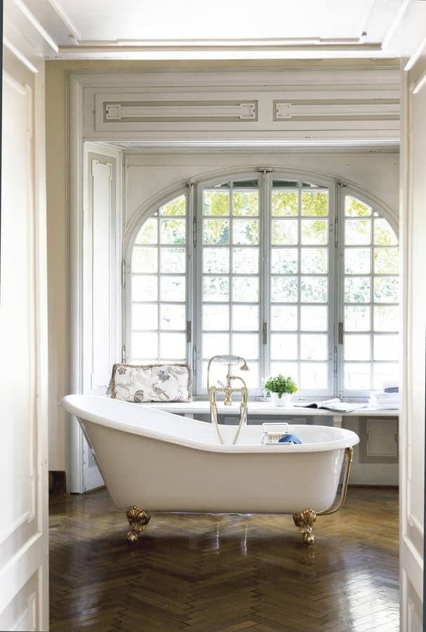 Vasca da bagno in ghisa per centro stanza idfdesign - Vasche da bagno esterne ...