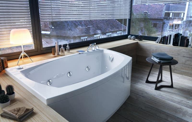 Vasca moderna con idromassaggio sanificazione idfdesign - Rubinetteria moderna bagno ...