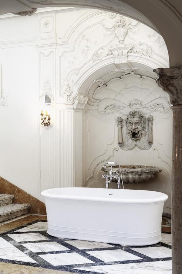 Vasca da bagno resistente e facile da pulire idfdesign - Pulire vasca da bagno ...