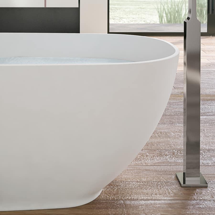 Vasca da bagno ovale con rubinetto cromo idfdesign - Rubinetto vasca da bagno ...