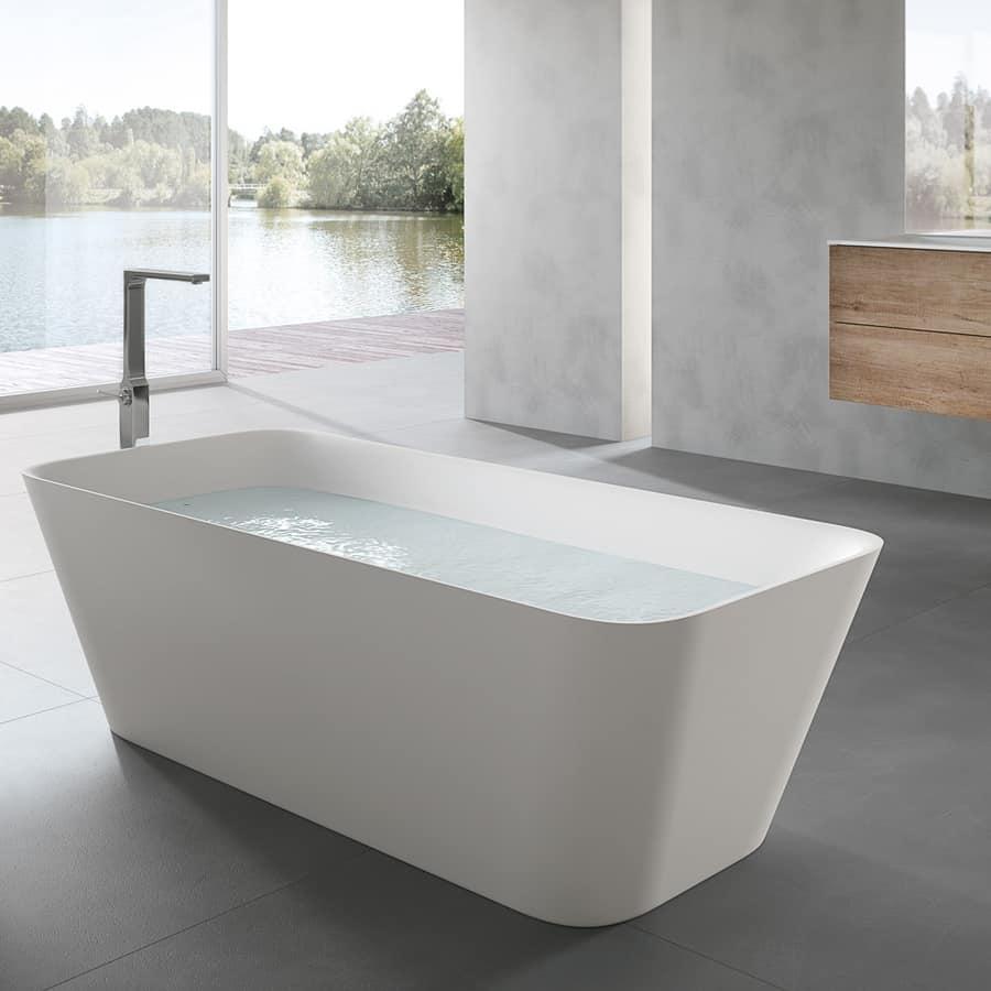 Vasca da bagno rettangolare per uso domestico idfdesign - Vasca da bagno rettangolare ...
