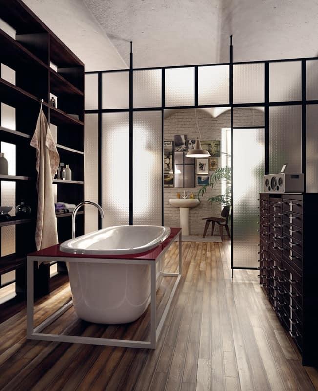 Vasca freestanding con idromassaggio per camera d 39 albergo - Vasca in camera ...