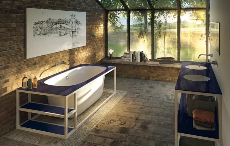 Vasca freestanding con idromassaggio per camera d 39 albergo - Immagini vasche da bagno ...