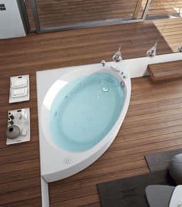 Vasca da bagno con regolazione aria 6 getti idromassaggio idfdesign - Vasca da bagno moderna ...