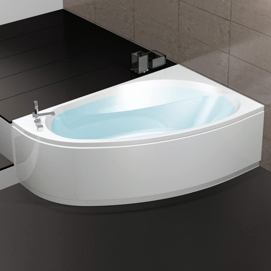 Vasca da bagno con regolazione aria 6 getti idromassaggio idfdesign - Vasca da bagno angolare prezzi ...