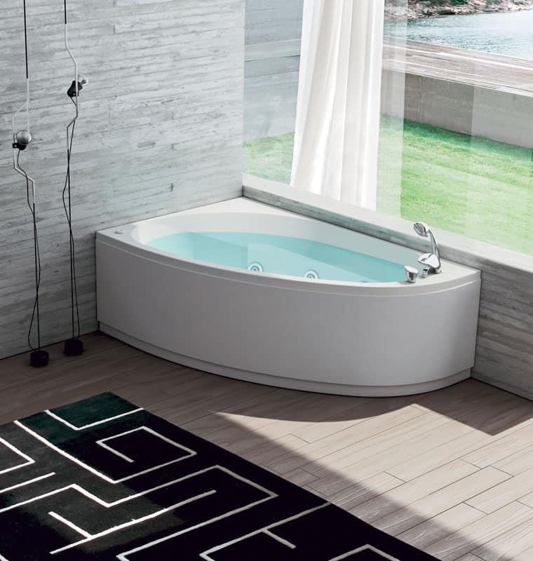 Vasca da bagno con regolazione aria 6 getti idromassaggio - Vasca da bagno angolare misure ...